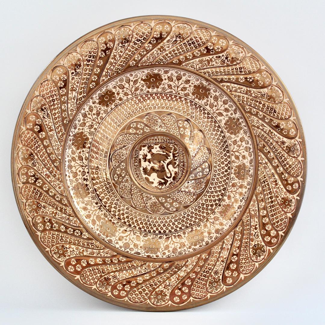 La cerámica de reflejo metálico de Manises